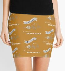 Coffee is my Every Heartbeat Mini Skirt