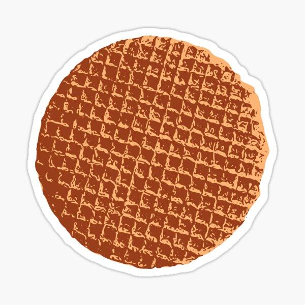 The Dutch waffle, syrup waffle or de stroopwafel Sticker