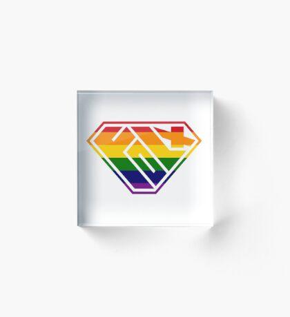 Folx SuperEmpowered (Rainbow) Acrylic Block