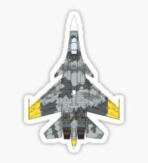 Yellow Squadron Su-37 Terminator Sticker