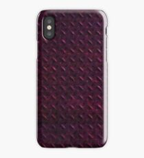 Low Res Red Metal Panel iPhone Case