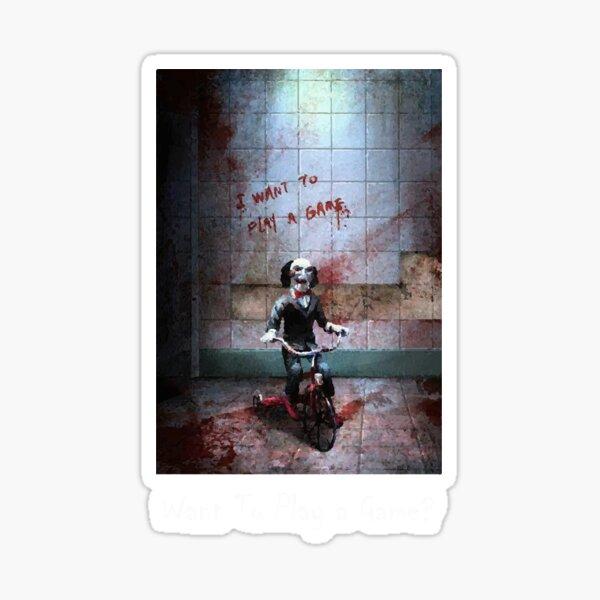 Billy The Puppet - Möchtest du ein Spiel spielen? Sticker