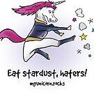 Badass Unicorn kicking ass by claudiasartwork