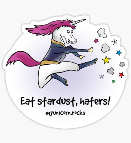 Badass unicorn Sticker