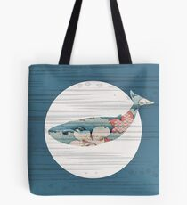 Whale and Polka Dots Tote Bag
