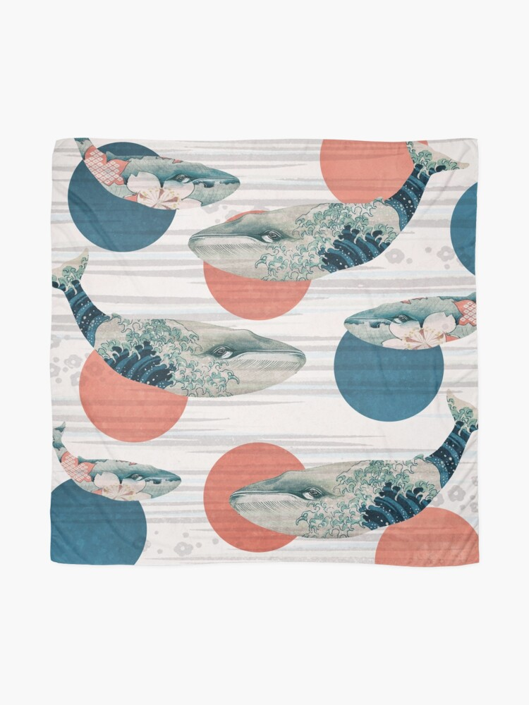 Alternate view of Whale and Polka Dots Scarf