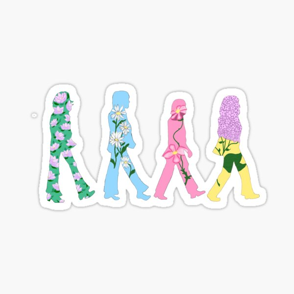 flower power -digital art version Sticker