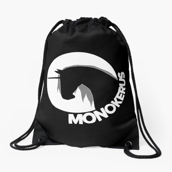 White MONOKERUS Logo Drawstring Bag