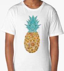 Pineapple Floral Long T-Shirt