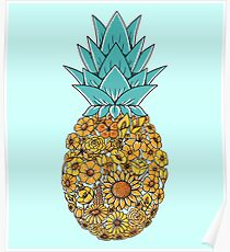 Ananas Floral Poster
