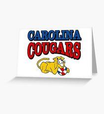 Carolina Cougars Basketball Greeting Card