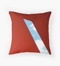 Red building - Magritte style Throw Pillow