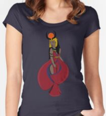 Hathor, the Egyptian Godness Women's Fitted Scoop T-Shirt