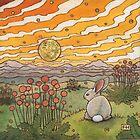 Bunny Sunset by Fay Helfer