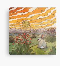 Bunny Sunset Metal Print
