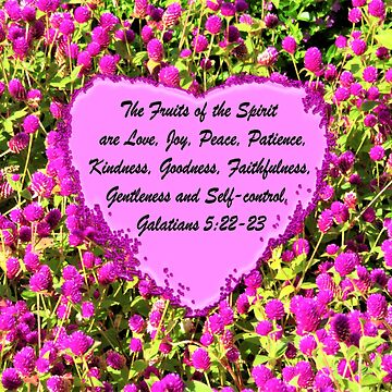 LOVELY PINK FLORAL FRUITS OF THE SPIRIT PHOTO DESIGN by JLPOriginals