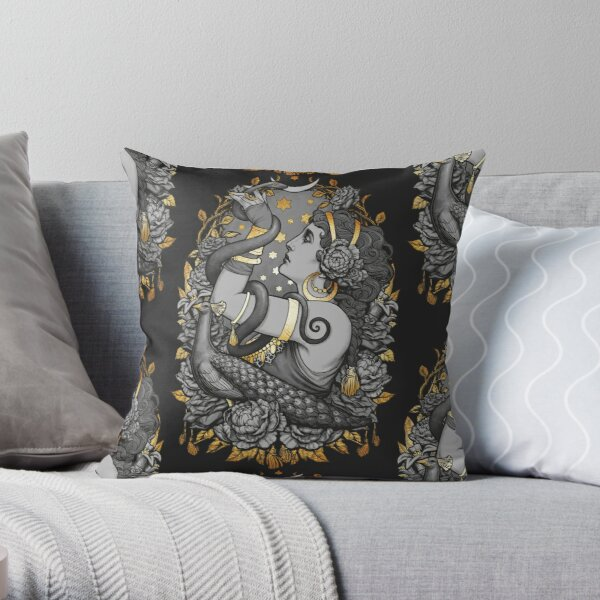 Tribal Belly Dancer Witch Throw Pillow
