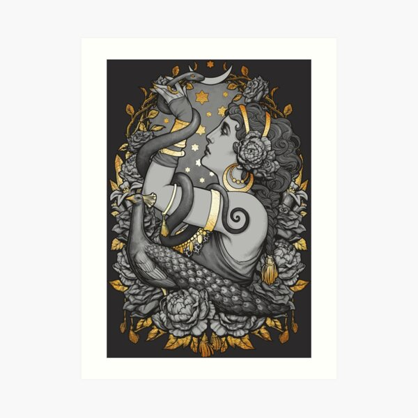 Tribal Belly Dancer Witch Art Print