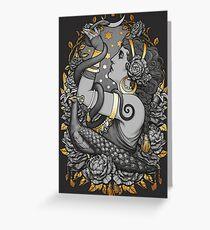 Tarjeta de felicitación Tribal Belly Dancer Witch