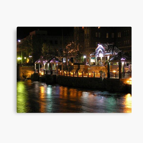 Truckee River Lights  Canvas Print