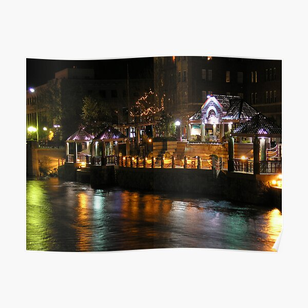 Truckee River Lights  Poster