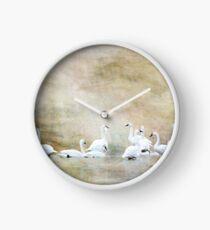 Tundra Schwäne Digital Aquarell Uhr