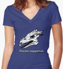 Dracorex hogwartsia skull! Women's Fitted V-Neck T-Shirt