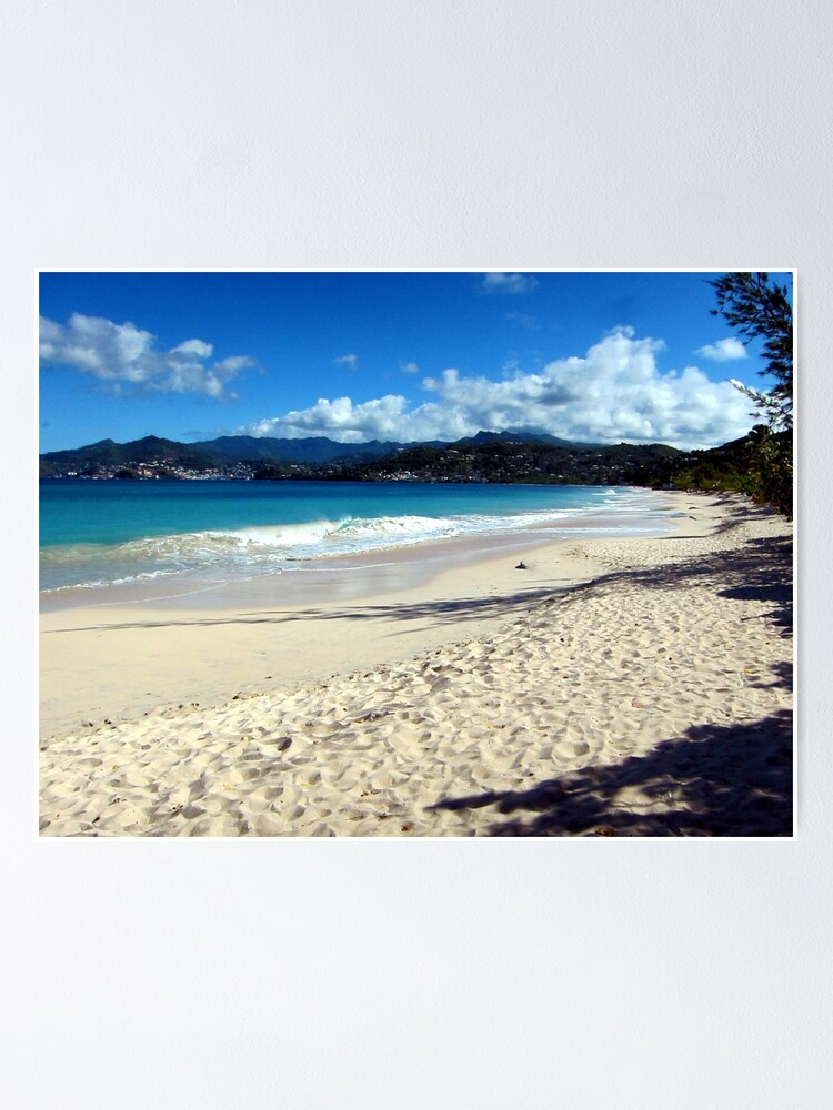 Alternate view of Grand Anse Beach, Grenada. Poster