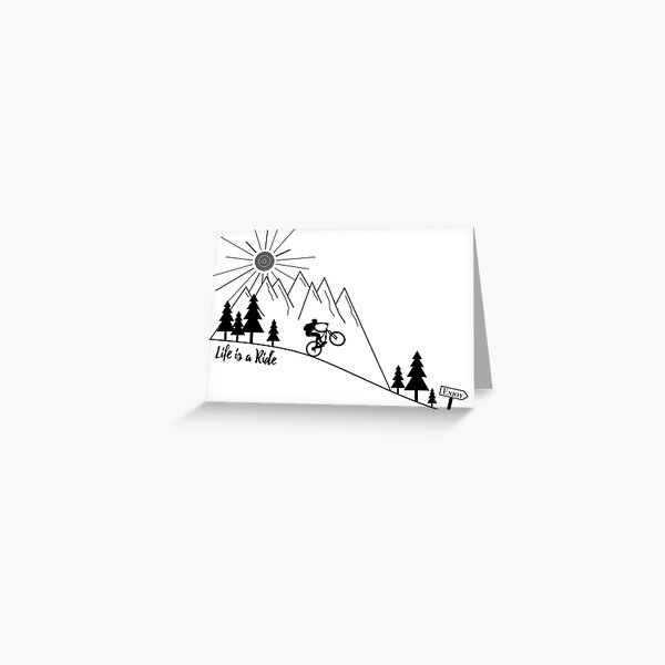 mtb mountain bike cycling Greeting Card