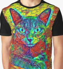 CAT COLORFUL Graphic T-Shirt