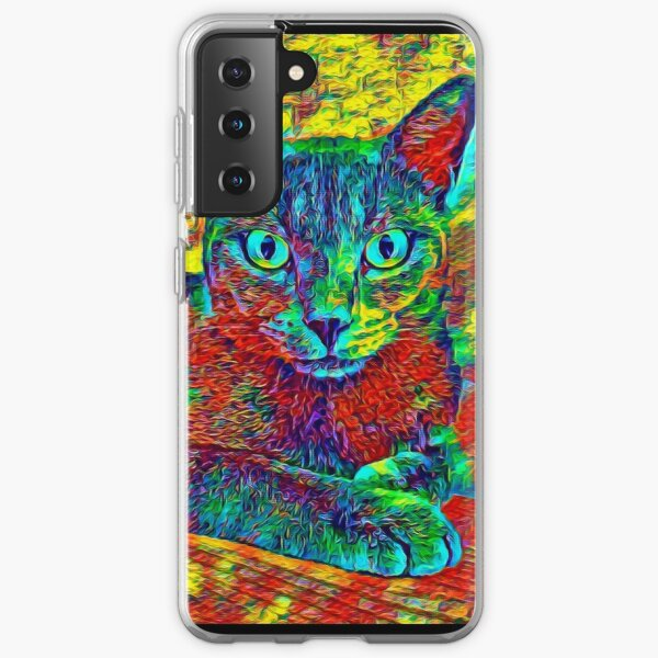 CAT COLORFUL Samsung Galaxy Flexible Hülle