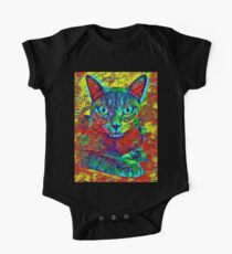CAT COLORFUL One Piece - Short Sleeve