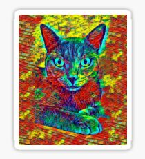 CAT COLORFUL Sticker