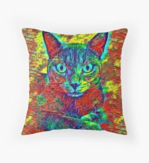 CAT COLORFUL Throw Pillow
