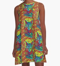 CAT COLORFUL A-Linien Kleid