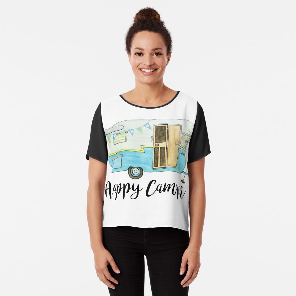 glücklicher Camper Chiffon Top
