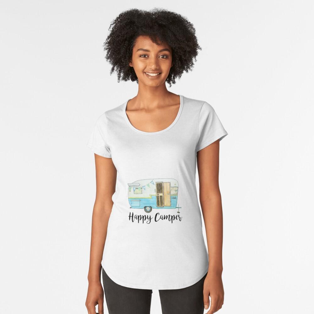 glücklicher Camper Premium Rundhals-Shirt