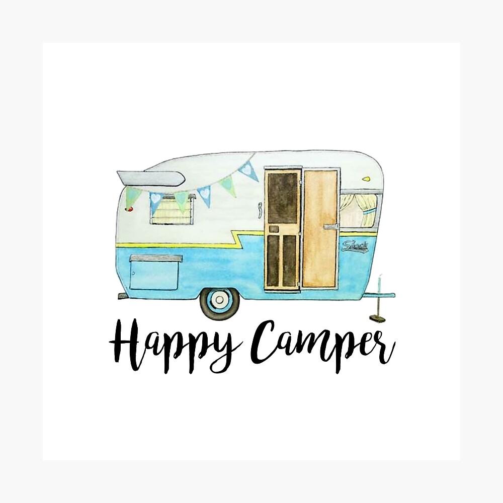 glücklicher Camper Fotodruck