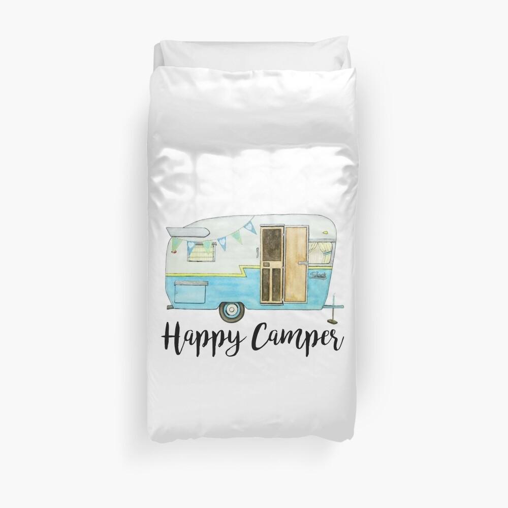glücklicher Camper Bettbezug
