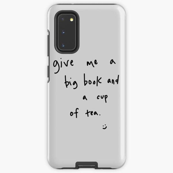 big book & cup of tea Samsung Galaxy Tough Case