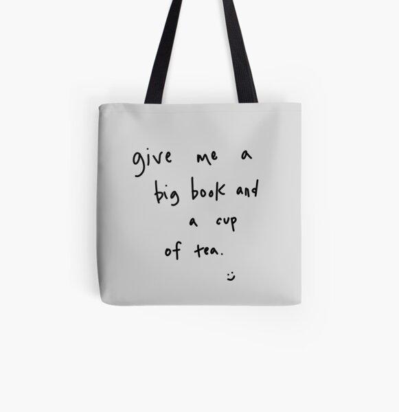 big book & cup of tea All Over Print Tote Bag
