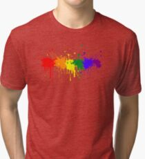 Pride - Paint Splatters Tri-blend T-Shirt