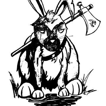 Warrior Bunny by TheHaloEquation