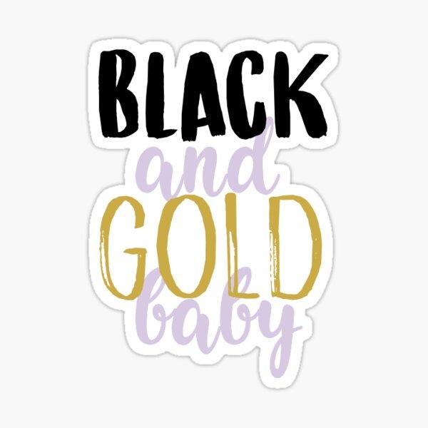 black and gold baby sticker Sticker