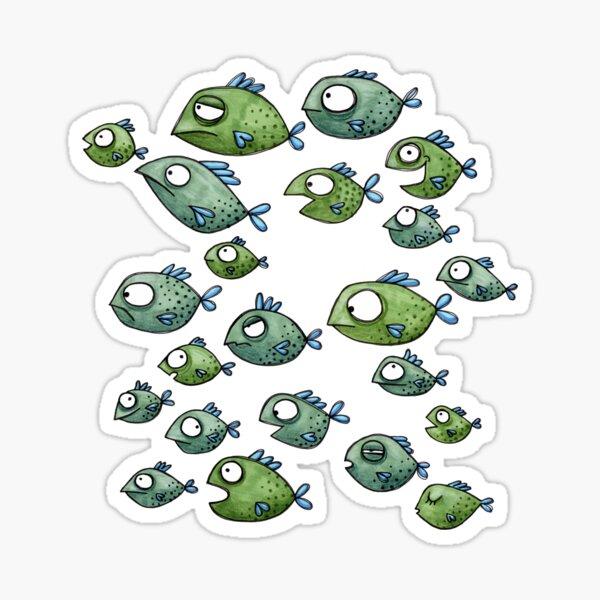Fischschwarm - Fische - Schwarmfische Sticker
