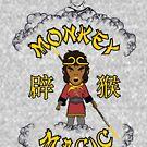 Goldener Affe Magic Budda von Candywrap Design
