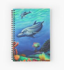 A swim with the dolphins Spiral Notebook