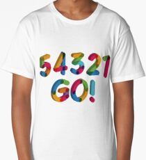 5-4-3-2-1 GO = The Five Second Rule Long T-Shirt