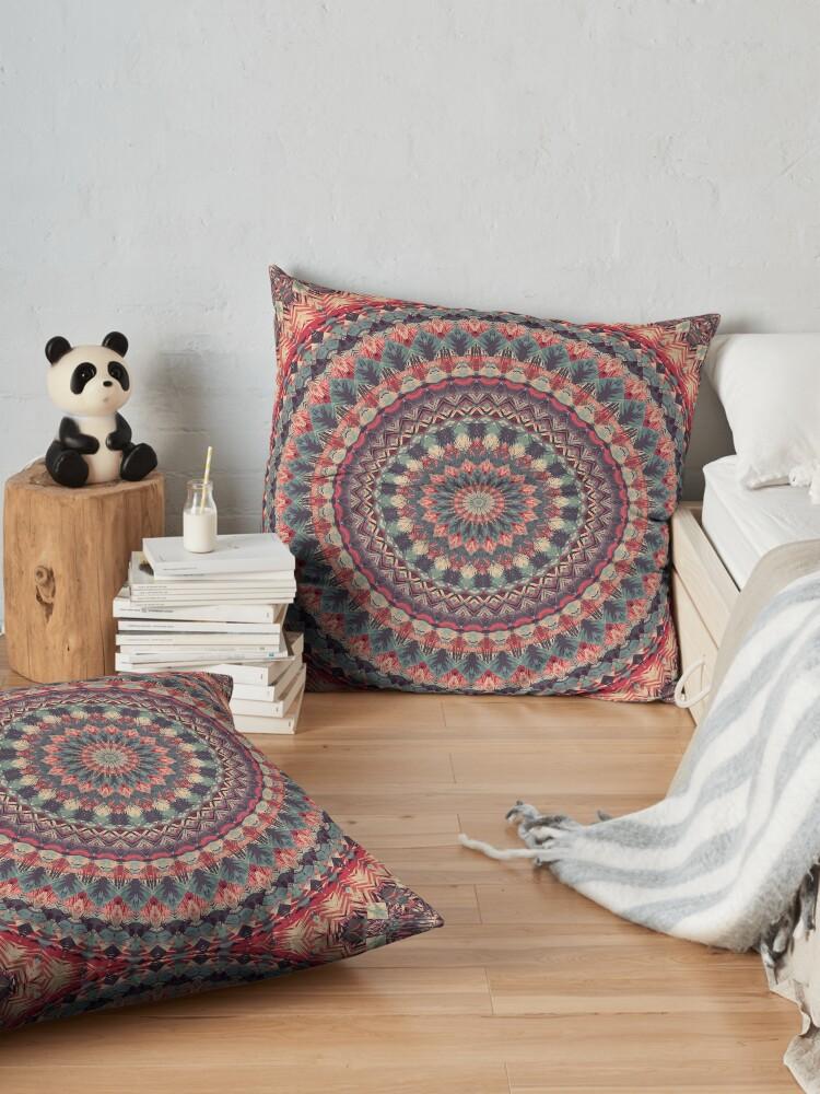 Alternate view of Mandala 126 Floor Pillow