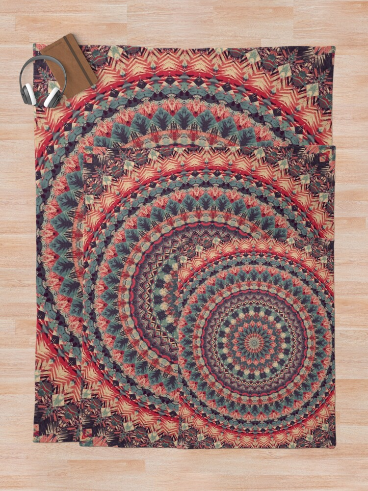 Alternate view of Mandala 126 Throw Blanket